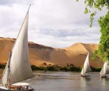 Река Нил, Ливийская пустыня и Ботанический сад в Асуане